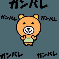[LINEスタンプ] 動くクマさんの全力メッセージ (1)