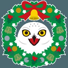 クリスマスと年末に使えるシロフクロウ