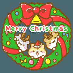 [LINEスタンプ] あにまる冬便り・クリスマス年末年始 (1)