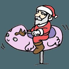 うっかりサンタのクリスマススタンプ