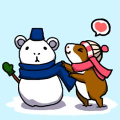 モルモット+冬