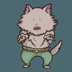 ゆるい人狼のスタンプ