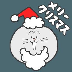 ネコとクマのクリスマススタンプ