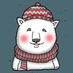 冬の愉快な動物たち