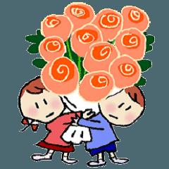 コトハとタクミ、冬の幼稚園生活