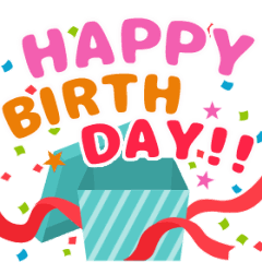 動く!お祝い&誕生日おめでとう☆