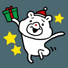 クリスマスのちょっと煽り顔のクマ