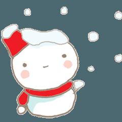 冬といえば雪だるまさんです。