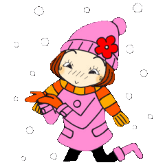 ひま子ちゃん166大人女子の冬スタンプ3