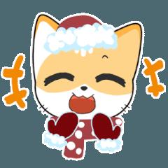 ラッキー猫 冬バージョン