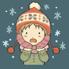 冬の季節 カントリーガール