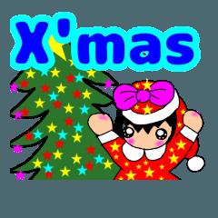 クリスマス 年末  bunbun スタンプ
