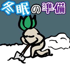 マンドラゴラ「冬にまつわる動き」で挨拶