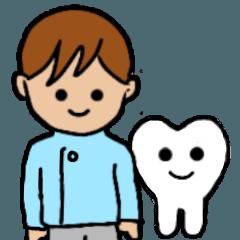 歯医者さんのスタンプ