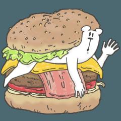 うざいくまです。ハンバーガー。