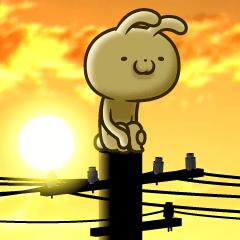 [LINEスタンプ] ウサギですがカワイイに疲れました‥2 (1)