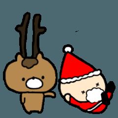 サンタクロースとトナカイ2