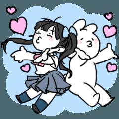 [LINEスタンプ] まりちゅう×すこぶる動くウサギ