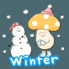 冬のキノコの盛り合わせ