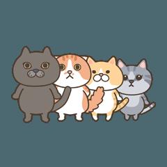 4匹の猫にあれこれ言ってもらうスタンプ 1