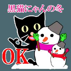 黒猫(にゃん)の冬