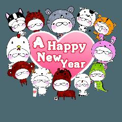 毎年使えるお祝いスタンプ