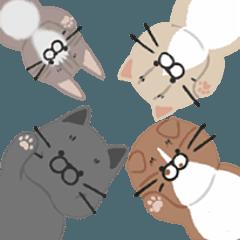 [LINEスタンプ] 4匹の猫にあれこれ言ってもらうスタンプ 2 (1)