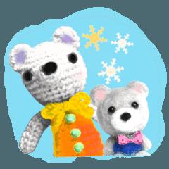 ふわふわな冬の仲間