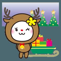 冬♥️きらきら花うさちゃん[中国語繁体字]