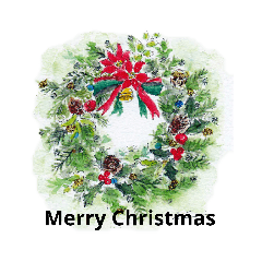[LINEスタンプ] クリスマス(水彩) (1)