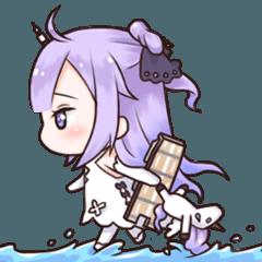 [LINEスタンプ] ユニコーンちゃんの日常【アズールレーン】 (1)