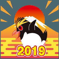 NEW YEAR 2019〜イワトビペンギン