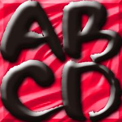 ぽってり筆文字ABC