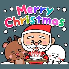皆の幸せなクリスマススタンプ