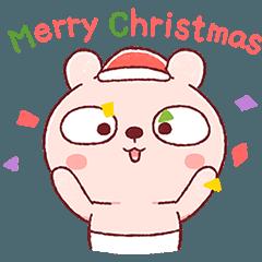 ベビーピンクのおむつうさぎ(クリスマス編)