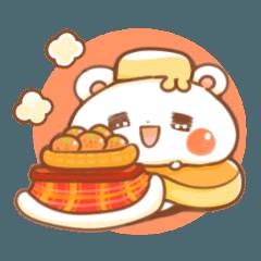 まったりパンケーキクマ