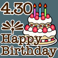 4月1日〜30日までのお誕生日おめでとう