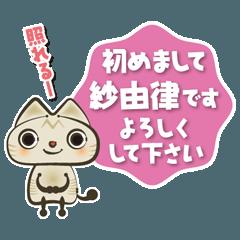 紗由律さんの猫です
