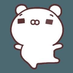 [LINEスタンプ] シロクマとクマの画像(メイン)