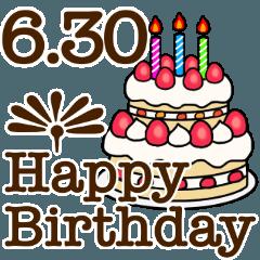 6月1日〜30日までのお誕生日おめでとう