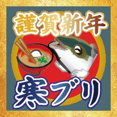謹賀新年寒ブリ(香川県出身鰤23弾)