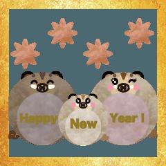 2019年用ぷくまる猪 ふわもこver.