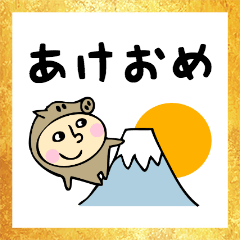 亥年生まれのイノシシさん