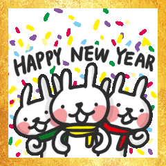 ハロー!ウサギの新年
