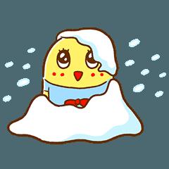 """ふなっしー """"冬バージョンスタンプ"""""""