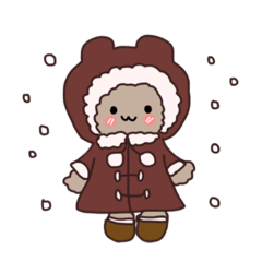 [LINEスタンプ] もふもふわっふるくん冬の日常編 (1)
