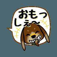 [LINEスタンプ] ミニチョコちゃんの 福井弁