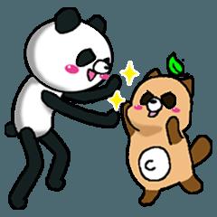 スマートパンダと豆たぬき