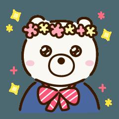 [LINEスタンプ] 制服を着たくま ~出会いと別れ~ (1)