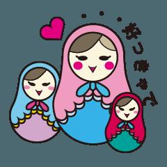 [LINEスタンプ] 喋るマトリョーシカ【関西弁】 (1)